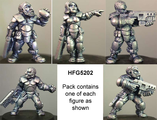 HFG5202 Light Infantry Squad (Bareheaded)